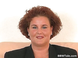 Chubby milf feeling wet and horny during
