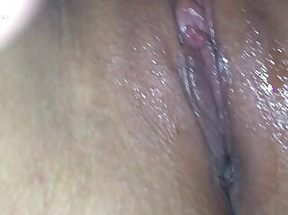 Licking my college girlfriend juicy wet amateur shaved pussy pov close up
