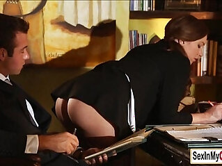 office: Sexy secretary Maddy fucked on the table