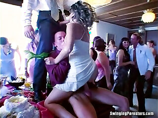 Party bitches suck cocks in public